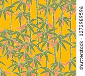 japanese bamboo for concept...   Shutterstock .eps vector #1272989596