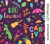 brazilian carnival seamless... | Shutterstock .eps vector #1272991426