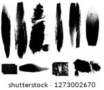 big set of grunge paint stripes ... | Shutterstock .eps vector #1273002670