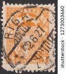 latvia circa 1927 a stamp... | Shutterstock . vector #1273003660