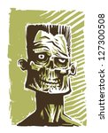zombie face  vector | Shutterstock .eps vector #127300508
