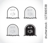 Set Of Gravestones  Rest In...
