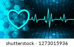 blue heart pulse monitor with...   Shutterstock .eps vector #1273015936
