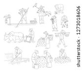 vector chinese farmers and... | Shutterstock .eps vector #1273018606