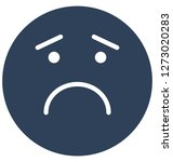 sad  weeping vector isolated... | Shutterstock .eps vector #1273020283
