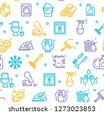 household and cleaning tools... | Shutterstock . vector #1273023853