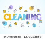 household and cleaning service... | Shutterstock . vector #1273023859