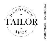 handsewn tailor shop stamp   Shutterstock .eps vector #1273028569