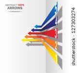 colored arrows vector. eps10 | Shutterstock .eps vector #127303274