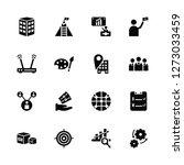 vector illustration of 16 icons....   Shutterstock .eps vector #1273033459
