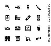 vector illustration of 16 icons.... | Shutterstock .eps vector #1273033510