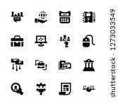 vector illustration of 16 icons.... | Shutterstock .eps vector #1273033549