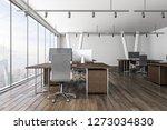 new coworking office interior... | Shutterstock . vector #1273034830