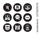 9 vector icon set   pay per... | Shutterstock .eps vector #1273035376