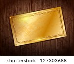gold frame with space for text... | Shutterstock . vector #127303688