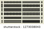 set of pattern brushes. tracery ... | Shutterstock . vector #1273038043