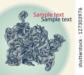bizarre abstract vector wave... | Shutterstock .eps vector #127303976