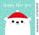 happy new year. polar white... | Shutterstock .eps vector #1273039939
