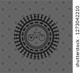 bike icon inside dark emblem.... | Shutterstock .eps vector #1273042210