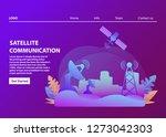 satellite communication... | Shutterstock .eps vector #1273042303