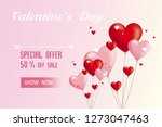 valentine's day on my heart... | Shutterstock .eps vector #1273047463
