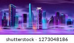 future metropolis night... | Shutterstock .eps vector #1273048186