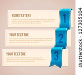 set of 3 option banners with... | Shutterstock .eps vector #127305104