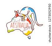 visit australia 2019... | Shutterstock .eps vector #1273052950