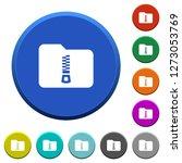 compressed folder round color... | Shutterstock .eps vector #1273053769