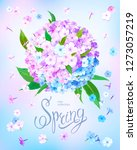 beautiful floral background... | Shutterstock .eps vector #1273057219