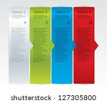 vector progress cards for your... | Shutterstock .eps vector #127305800