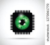 realistic eyeball on a... | Shutterstock .eps vector #1273061770