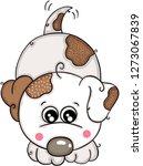 happy white dog | Shutterstock .eps vector #1273067839