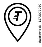 letter t and map pin. logo...