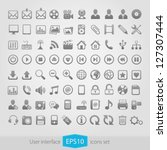 web multimedia icons set | Shutterstock .eps vector #127307444