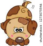 cute brown dog | Shutterstock .eps vector #1273075546