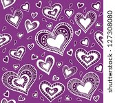 pattern with hearts. you can... | Shutterstock .eps vector #127308080