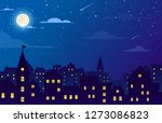 vector illustration of night... | Shutterstock .eps vector #1273086823
