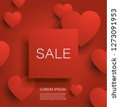 valentine day sale banner or... | Shutterstock .eps vector #1273091953