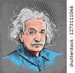 Albert Einstein Colored...