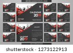 desk calendar 2019 template  ...   Shutterstock .eps vector #1273122913