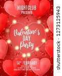 happy valentine's day holiday... | Shutterstock .eps vector #1273125943