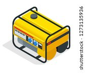 isometric yellow gasoline... | Shutterstock .eps vector #1273135936