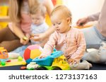 group of babies with mothers...   Shutterstock . vector #1273137163