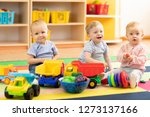 group of babies is playing on...   Shutterstock . vector #1273137166