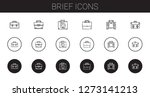 brief icons set. collection of... | Shutterstock .eps vector #1273141213