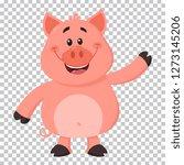 cute pig cartoon character... | Shutterstock .eps vector #1273145206