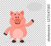 happy pig cartoon character... | Shutterstock .eps vector #1273147183