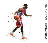 basketball player in red jersey ... | Shutterstock .eps vector #1273147789