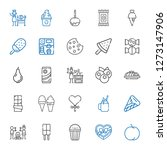 delicious icons set. collection ... | Shutterstock .eps vector #1273147906